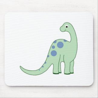 Happy Green Cartoon Dinosaur Mouse Pad