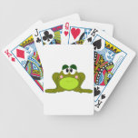 Happy Green Cartoon Frog Card Decks