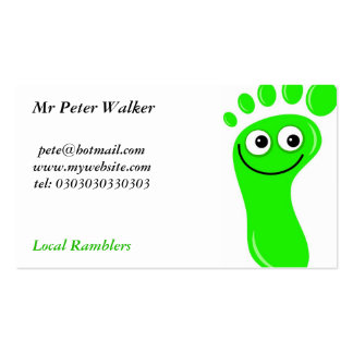 Happy Green Feet Double-Sided Standard Business Cards (Pack Of 100)