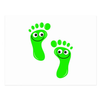 Happy Green Feet Postcard