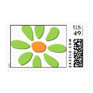 Happy Green Flower stamp