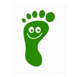 Happy Green Foot Postcard