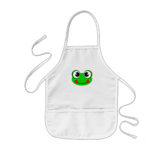 Happy Green Frog Kids' Apron