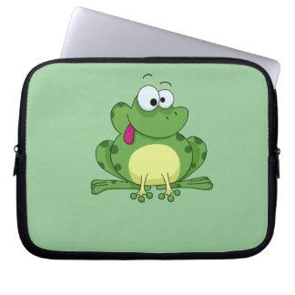 Happy Green Frog Laptop Sleeves