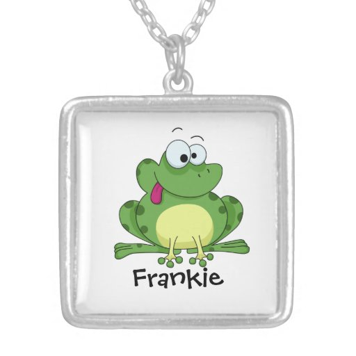 Happy Green Frog Pendants