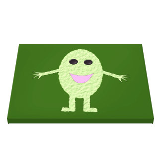 Happy Green Grape Canvas Print
