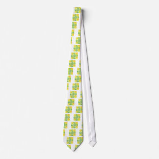 Happy green mandala product neck tie