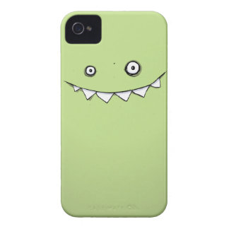 Happy Green Monster In My Pocket iPhone 4 Case