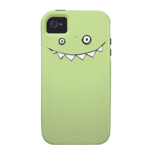 Happy Green Monster iPhone 4 & 4s Tough Case