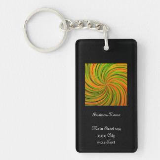 Happy, green orange (C) Keychain