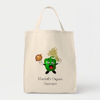 Happy Green Pepper Cajun Organic Groceries Tote Bag