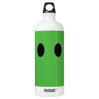 Happy green smiley face SIGG traveler 1.0L water bottle