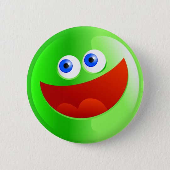 Happy Green Smilie Button
