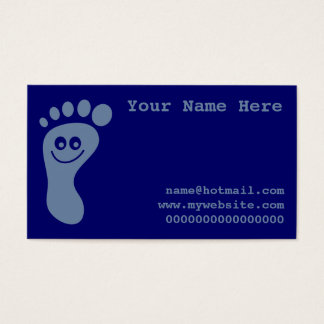 Happy Grey Foot Business Card