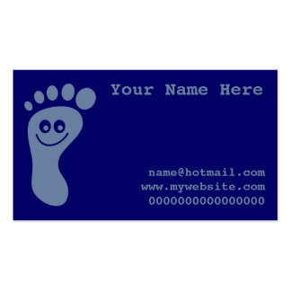 Happy Grey Foot Business Card Template