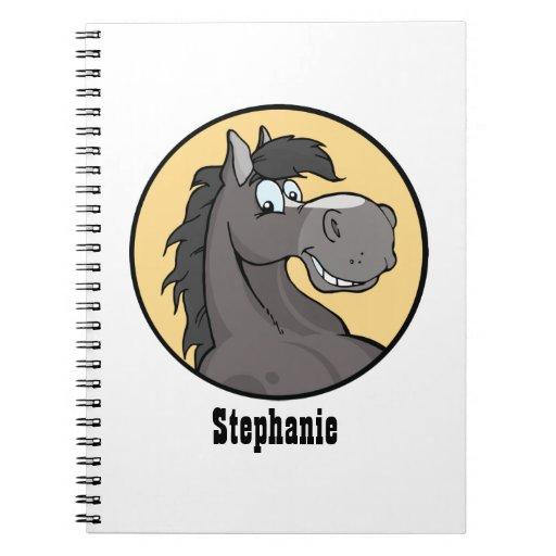 Happy Grey Horse Notebook