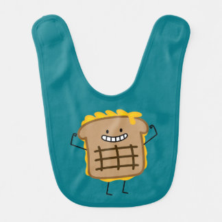 Happy Grilled Cheese Sandwich Baby Bib