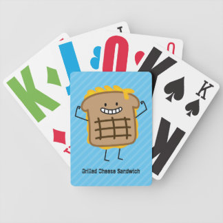Happy Grilled Cheese Sandwich Bicycle Playing Cards