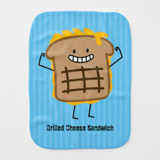 Happy Grilled Cheese Sandwich Burp Cloth