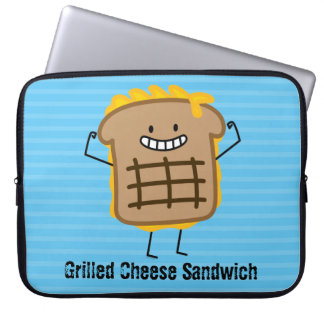 Happy Grilled Cheese Sandwich Computer Sleeve