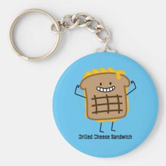 Happy Grilled Cheese Sandwich Keychain