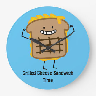 Happy Grilled Cheese Sandwich Large Clock