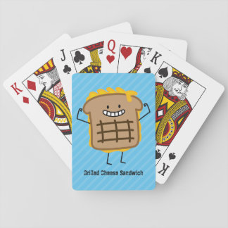 Happy Grilled Cheese Sandwich Playing Cards