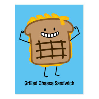 Happy Grilled Cheese Sandwich Postcard