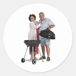 Happy Grilling Classic Round Sticker