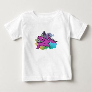 Happy Grinning Whale Baby T-Shirt