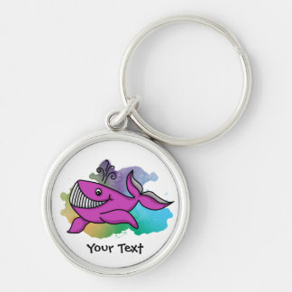 Happy Grinning Whale Keychain