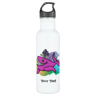 Happy Grinning Whale Stainless Steel Water Bottle