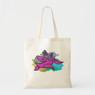 Happy Grinning Whale Tote Bag