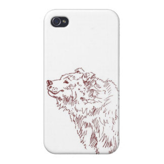 Happy Grizzly Bear iPhone 4 Cover