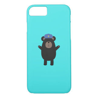Happy Grizzly Police Officer Q1Q iPhone 8/7 Case