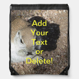 Happy Ground Squirrel Drawstring Backpack