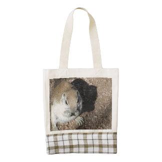 Happy Ground Squirrel Zazzle HEART Tote Bag