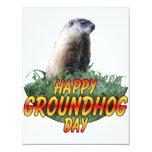 Happy Groundhog Day 4.25x5.5 Paper Invitation Card