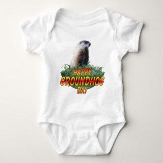 Happy Groundhog Day Baby Bodysuit