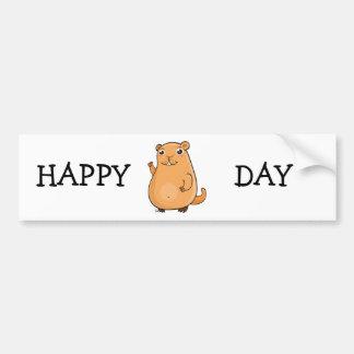 Happy Groundhog Day Car Bumper Sticker