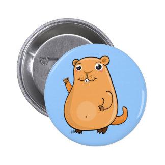 Happy Groundhog Day Button