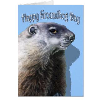 Happy Groundhog Day Card