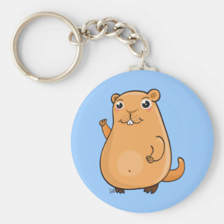 Happy Groundhog Day Keychain