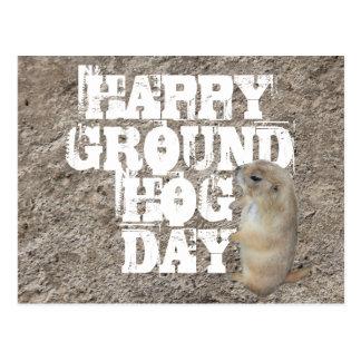 HAPPY GROUNDHOG DAY POSTCARD