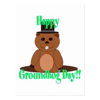 Happy Groundhog Day! Postcard