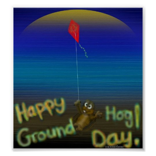Happy Groundhog Day print