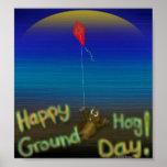 Happy Groundhog Day print Poster