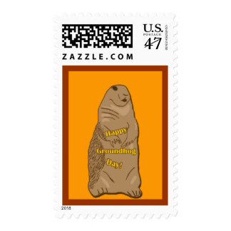 Happy Groundhog Day Stamp