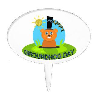 Happy Groundhog Day Sunshine Cake Topper