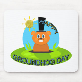 Happy Groundhog Day Sunshine Mouse Pads